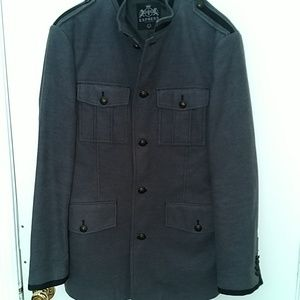 Express flannel military jacket